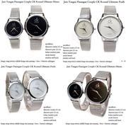 jam tangan pasangan pria / wanita couple ck round ultimate