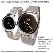 jam tangan pasangan pria / wanita couple ck round ultimate hitam