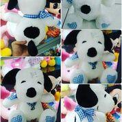 Boneka karakter hewan si anjing putih pemalas lucu & cerdas tokoh serial film kartun SNOOPY SNI NEW murah