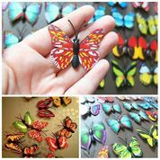 fake butterfly kupu kupu hiasan taman terrarium bahan craft scrapbook