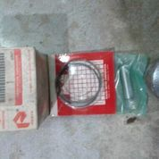 piston + ring+ penpiston +spi satria 120 2t. oversize std.asli sgp.