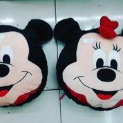 Bantal kepala Mickey Mouse dan Minnie Mouse grade Super Ori SNI NEW murmer Bahan velboa halus isi dracon empuk realpict lucu