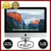 "GARANSI RESMI APPLE 1 TAHUN iMac MK442 - 21.5""/2.8GHz quad core i5"