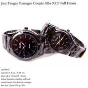 jam tangan stainles couple alba XCP full hitam