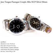 jam tangan stainles couple alba XCP full silver hitam