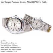 jam tangan stainles couple alba XCP full silver putih