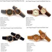 jam tangan couple kulit fossil klasik
