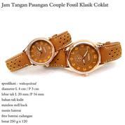 jam tangan couple kulit fossil klasik coklat