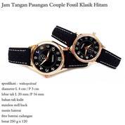 jam tangan couple kulit fossil klasik hitam