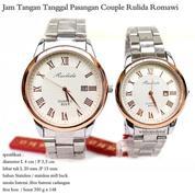jam tangan tanggal couple rulida romawi