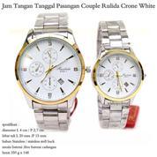 jam tangan tanggal couple rulida crone white