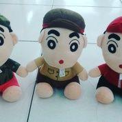 Boneka karakter anak kecil nakal & lucu tokoh serial film kartun jepang Sinchan 3 jenis pekerja tentara polisi pemadam kebakaran SNI