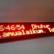 Running Text JADWAL SHOLAT Jam Digital OTOMATIS UPDATE uk. 20 x 68cm