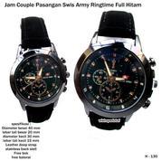 jam tangan couple kulit swis army ringtime full hitam