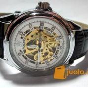 Jam tangan model Rolex otomatis putih (kalep)
