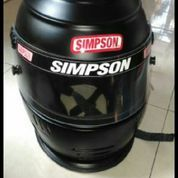 Helm full face merk simpson size 7 1/4 (M)