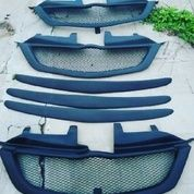 Aksesoris eksterior hidung mobil grill jaring & list kap boil avanza & xenia type G & S sporty elegant mudah murah & aman