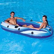 Perahu Karet Bestway Hydro Force Raft X2 Rubber Boat Muat 2 Orang Perahu Mancing & Arum Jeram