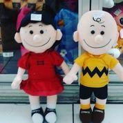 "Boneka karakter anak kecil laki"" & perempuan tokoh serial film kartun animasi Snoopy and The Peanuts Gang boy and girl SNI NEW murah realpict lucu"