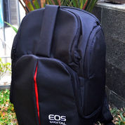 Tas Kamera Canon Eos Model Ransel Mini Muat Laptop 12 Inch Free Rain Coat