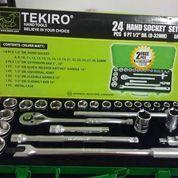 KUNCI SOK SET TEKIRO 8-32 24 PCS / KUNCI SOCKET 24PCS / 12PT 6PT