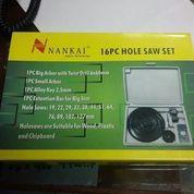 Holesaw Kit Hole Saw Kit Mata Bor Pelubang Kayu Set 16 Pcs Nankai