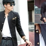 Jas Jaket, Jas Pria, Jas Blazer Skinny Black Stylish | SK-15