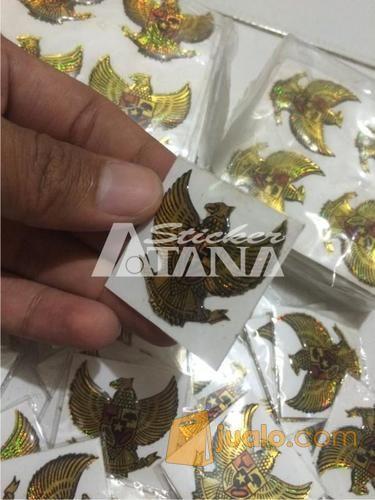 Sticker Cutting Timbul Emblem Garuda Pancasila Kecil Glossy