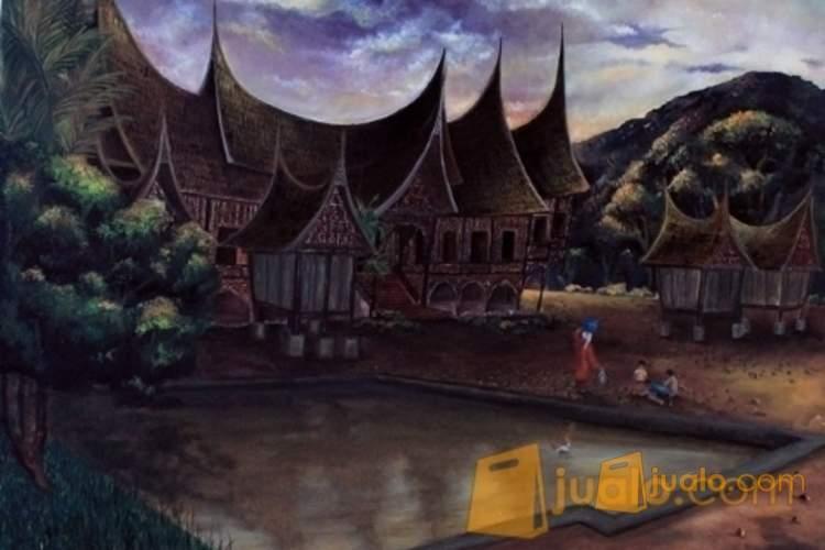 5800 Koleksi Gambar Lukisan Rumah Adat Minangkabau Terbaik