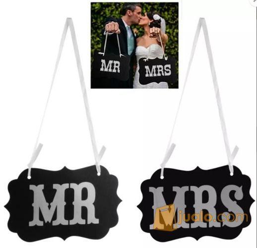 Mr mrs photo booth permainan aksesoris 12428649