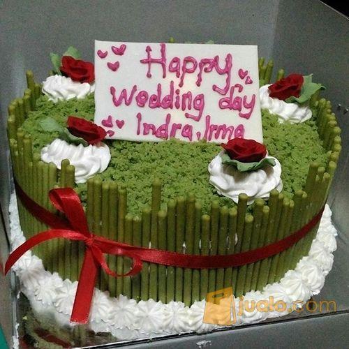 Kue Ultah Costum Cake Greentea Cake Dm20