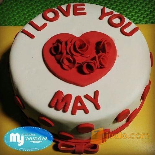 Kue Ultah Costum Cake Strawberry Fondant Cake Dm15