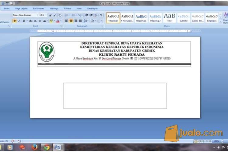 Jual Surat Keterangan Sakit Dari Dokter Dalam Bentuk Msword