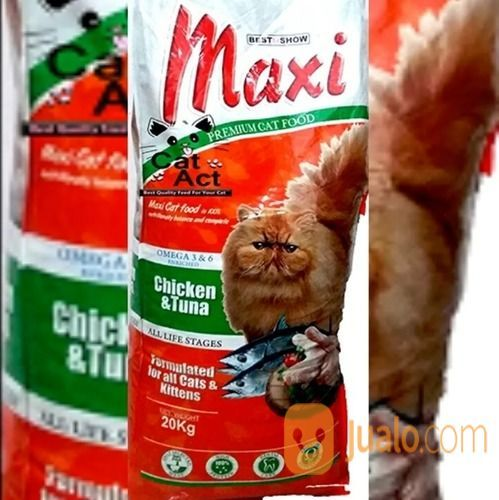 Makanan kucing maxi c hewan dan perlengkapan kucing 12995729