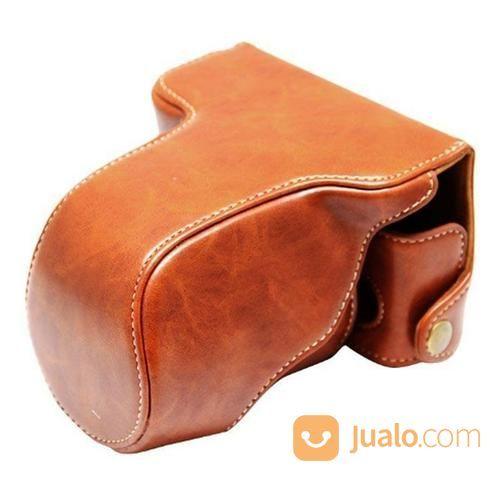 Leather case kamera m aksesoris kamera lainnya 14421567
