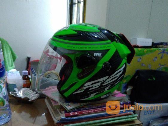 Helm NHK R6 Edisi Spesial Racer X Hijau Hitam