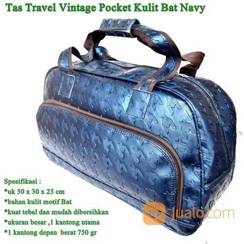 Tas kulit travel vint travel bag 16132229