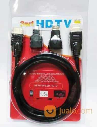 Kabel Converter HDMI 3in1 Konverter Hdmi To Hdmi Mini Mikro 3 In 1