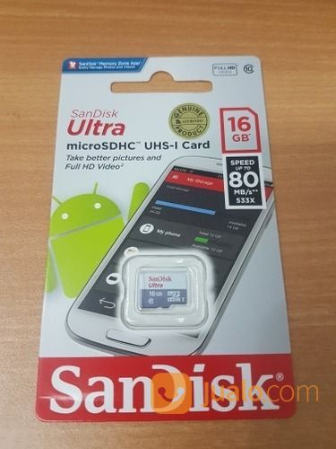 Memory Sandisk 16GB Speed 80mb/S Class 10 Original