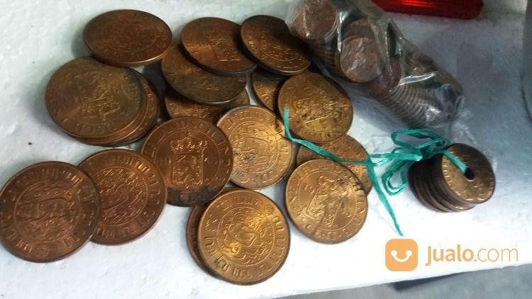 Uang Koin Nedertands Indische Tahun 1939 Dan 1945