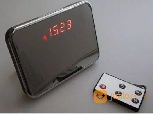 Mini Kamera Pengintai Tersembunyi Jam Meja Digital Besar Remote R7
