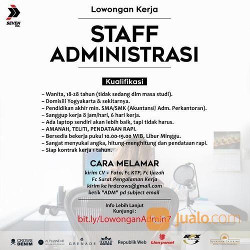 Info Lowongan Kerja Administrasi Perkantoran