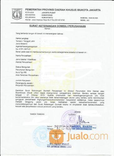 Pengurusan Permohonan Pendaftaran Domisili Usaha Skdu