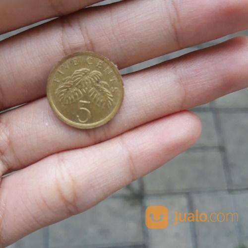 Koin kuno singapore 5 koleksi uang dan koin 18734071