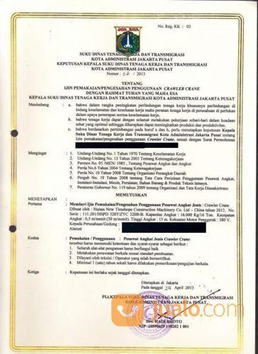 Jasa Pembuatan Surat Izin Alat Layak Operasi Alat Berat Jakarta