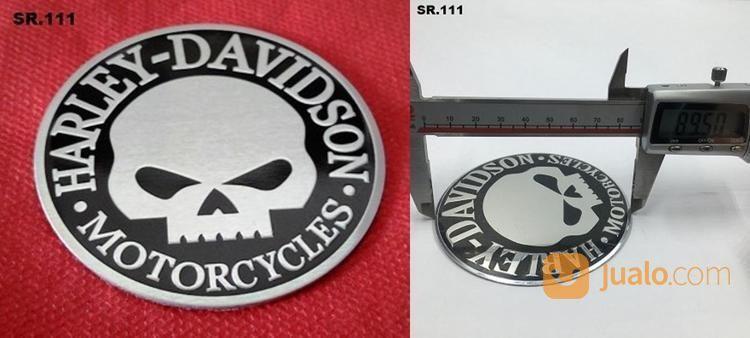 Emblem timbul skull h aksesoris motor emblem motor 18887395