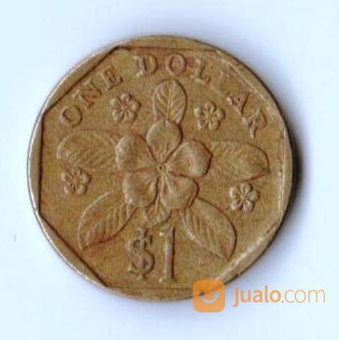 Koin 1 dollar singapo koleksi uang dan koin 18892311