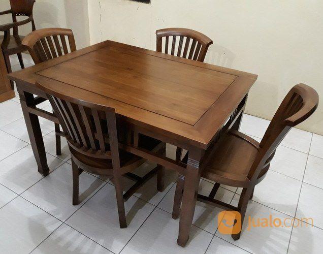 Meja makan jati kursi kebutuhan rumah tangga furniture 18966119