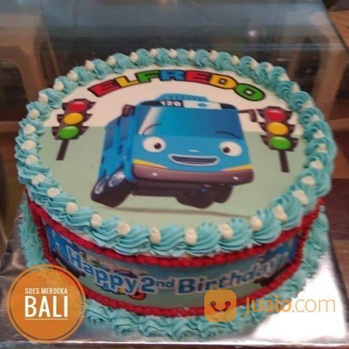 Cake Anak Tayo Birthday Kue Ulang Tahun Animasi Kartun Denpasar Bali