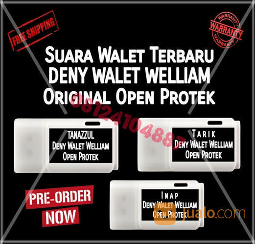 Paket 3 suara walet t audio audio player rec 21305387